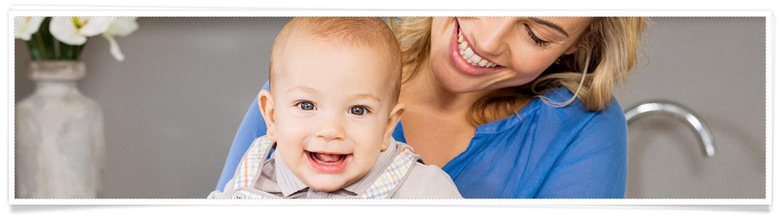 Babys 1 Jahr leben mit Baby Haushalt mit Kind