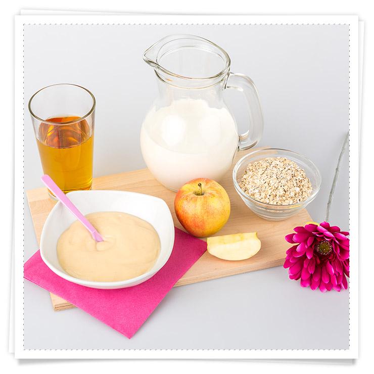 Babys 1 Jahr Rezeptideen - Milch-Getreide-Brei