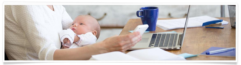 Babys 1 Jahr Rückkehr in das Arbeitsleben Planung erleichtert den Wiedereinstieg